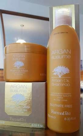 Pack farmavita sublime argan shampoo mascarilla aceite