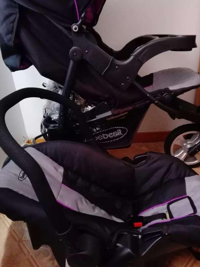 Vendo coche para niña con silla para carro bebesit