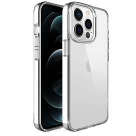 iPhone 13 Pro Max Funda de Silicona Transparente Rigida Space