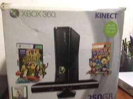 Vendo XBOX 360 con kinect de 250Gb