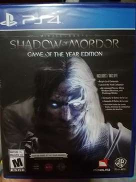 Shadow of Mordor(GOTY) Ps4