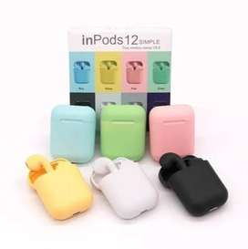 Audifonos Tipo Airpods i12 tactiles Inalámbricos color blanco