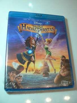 Blu Ray Tinker Bell Hadas y Piratas Nuevo 100 Original