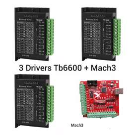 3 Drivers Tb6600 + Mach3 4 ejes