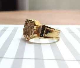 Hago anillo BSC de plata con cromado Dorado