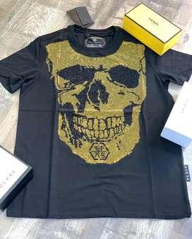 Camisetas masculinas 1705 phillip plein envio gratis