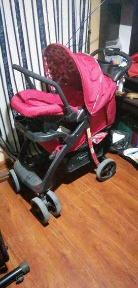 Coche de bebé con silla para automóvil