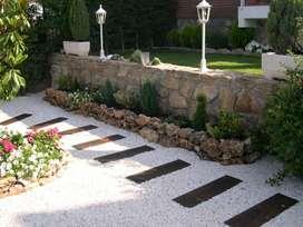 piedra para decoración de jardinería y chimeneas