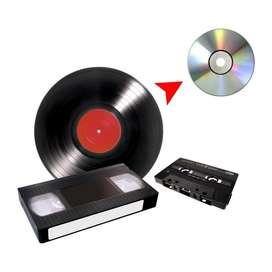 Copiamos de Vhs Betamax cassette Y Lp a Cd O Dvd o usb