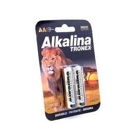 Tira 10 Baterias Pilas Tronex Aa Alkalina 1.5v Icontec 1.5v