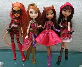Monster High y Ever After High Usadas