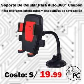 Soporte De Celular Para Auto 360° Chupón