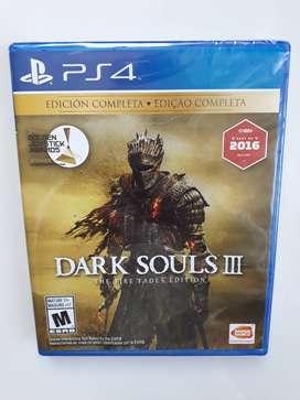 Nuevo Dark Souls 3 Edición Completa Juego Ps4 Sellado.