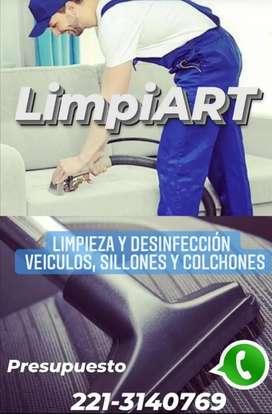 SERVICIO LIMPIEZA TAPIZADOS Y COLCHONES