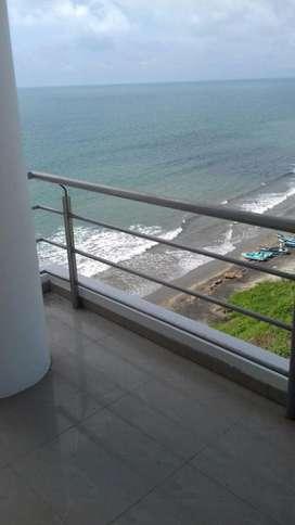 Renta, alquiler, arriendo departamento frente al mar las olas