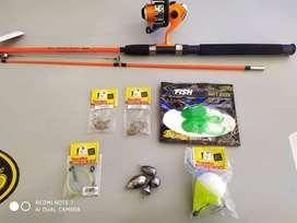 equipo de pesca para variada - reel y caña