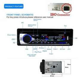 Radio reproductor estéreo para carro con AM-FM, Bluetooth USB, Memoria SD, realiza/responde Llamadas telefónicas 4x60wts