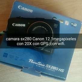 Camara Canon Sx280 con 20x Wifi Y Gps