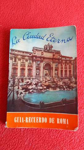 antigua guía recuerdo de roma 1961
