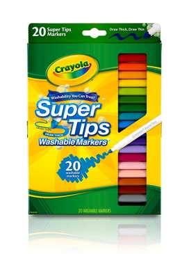 Crayola Marcador Lavable Super Tips 20 Unidades Originales