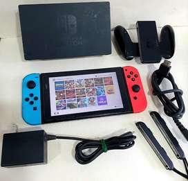 Nintendo Switch llena de juegos
