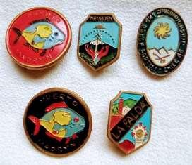 Lote 5 Pins Vintage