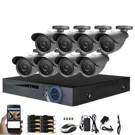 Cctv Combo Kit De 8 Camaras De Seguridad 2 megapixel 1080P HD Dahua, Dvr 4 Canales.. Domicilio ALMACENSPEEDWAYMEDELLIN