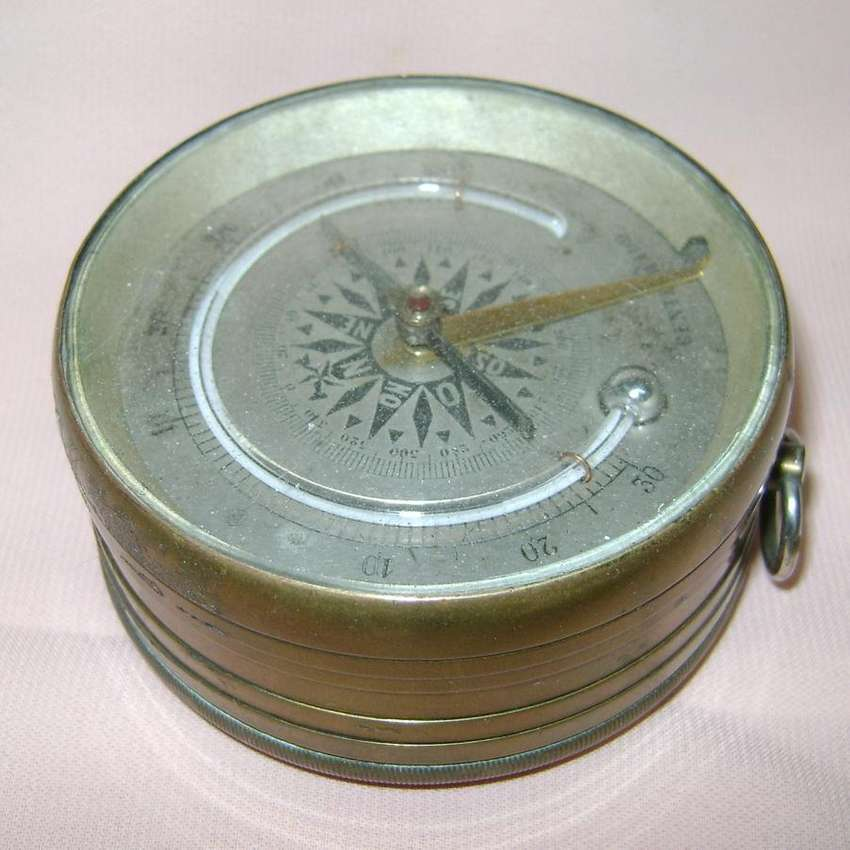 Antiguo Barómetro Aneroide Termómetro Compás Siglo 19 / Maxim Nord 0