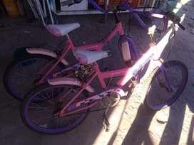 Vendo bicicletas para nenas rodado 20