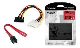 Disco Solido Kingston Ssd A400 240gb Cable De Poder Y Datos