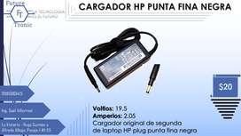 CARGADOR HP PUNTA FINA NEGRA