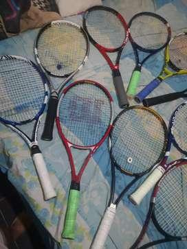 Raquetas de tenis varias