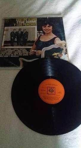 DISCO VINILO 33 1/3 CUATRO VIDAS EYDIE GORME Y LOS PANCHOS CBS LONG PLAY 12 TEMAS 1971