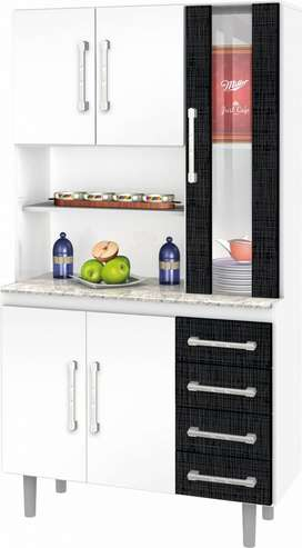 Kit de Cocina 5 Puertas 1 con Vidrio 4 C