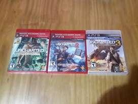 Vendo Colección de Uncharted Ps3