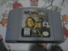 Juego Nintendo 64 Wcw World Tour Original Funcionando