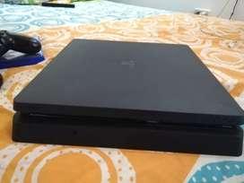 PS4 Slim, 500gb buen estado, trae 1 control, 1 juego físico
