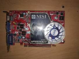 Tarjeta VIDEO CON HDMI:N9500GT-MD512-OC / D2 SE PUEDE OVERCLOCKEAR  USADA EN BUENAS CONDICIONES