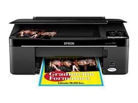Impresora Epson tx125 con kit de tinta continua