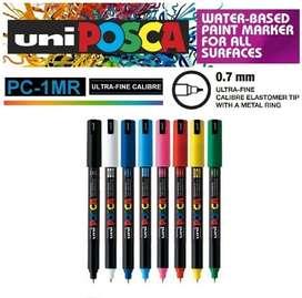 Plumón Marcador Posca Pc-1mr Pack X8 Diseño Paint Marker Punta fina