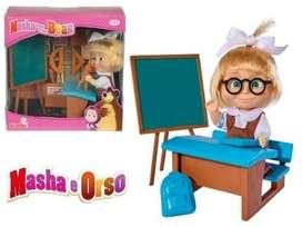 Muñeca MASHA Y El OSO Set Salon CON ACCESORIOS De Clases ORIGINAL