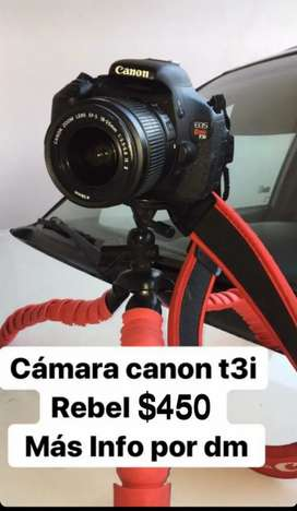 Camara canon t3i rebel como nueva