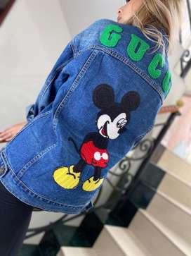Chaquetas femeninas Gucci jean Mickey Mouse ref 2107