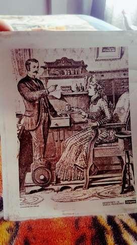 Vendo Lamina Antigua de Colgate 1884