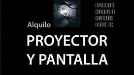 ALQUILER PROYECTOR Y PANTALLA