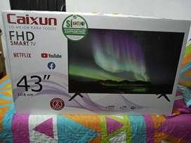 Tv 43 pulgadas smart tv caixum totalmente nuevo