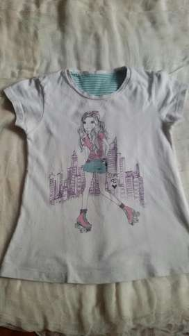 Remera Soft Red Talle 8 Niña