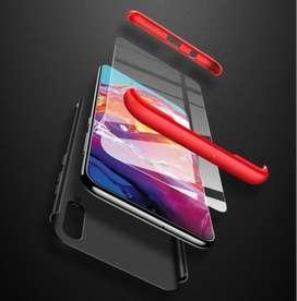 Estuche tres en uno + Mica, Para Samsung A10,A20,A30,A50,A70,A 80, A90,protege 3 En 1