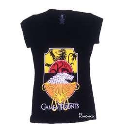 Camiseta Para Dama Estampada De Game Of Thrones
