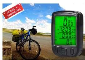Odometro Velocímetro bicicleta alámbrico luz impermeable